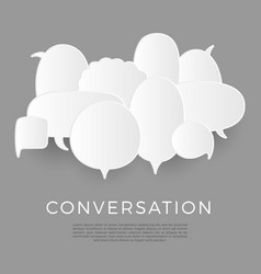 trendy speech bubbles set in flat design with vector image