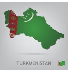 turkmenistan vector image