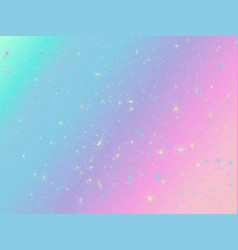 unicorn background with rainbow mesh fantasy vector image