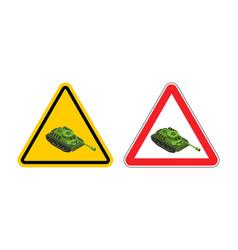 Warning sign of attention war vector
