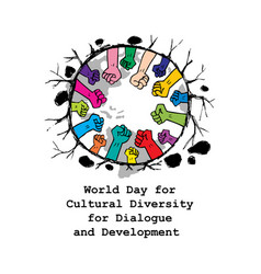 World day for cultural diversity vector