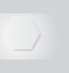 abstract white frame design concept vector image vector image