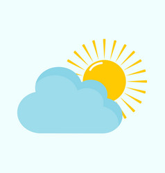 bright cloudy day light vector image