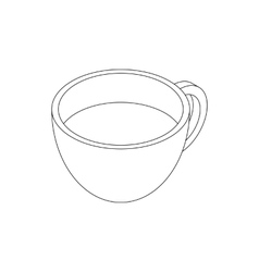 Coffee cup icon isometric 3d style vector image vector image