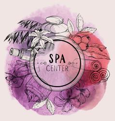 Design for beauty salon watercolor design vector