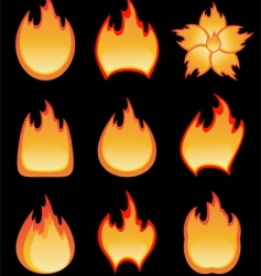 fire burning vector image