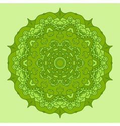 Green Round Decorative Design Element vector image vector image
