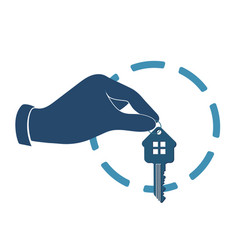 house key in hand vector image