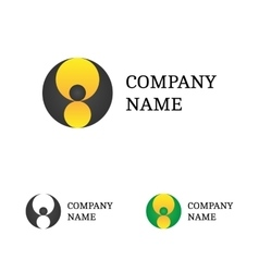 Logo Template Set Flying Bat Logotype vector image vector image