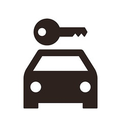 Rent a car sign vector image vector image