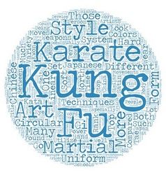 The Difference Between Karate and Kung Fu text vector image