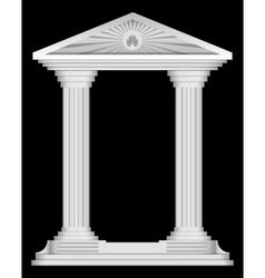 Antique roman temple frame for design vector image
