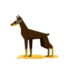 Dobermann Pinscher Dog vector image vector image