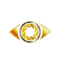 Golden Eye photography logo vector image vector image