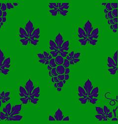 grape branch seamless pattern vector image