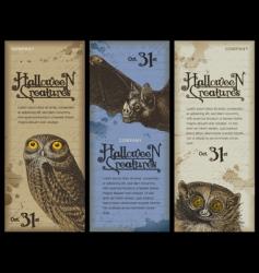 Halloween creatures vector image