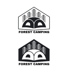 Icon or logo with tent vector image vector image