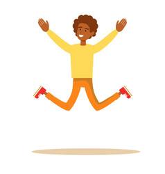One african american man jumping vector
