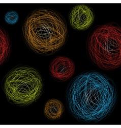 Seamless background hand-drawn circles vector image vector image
