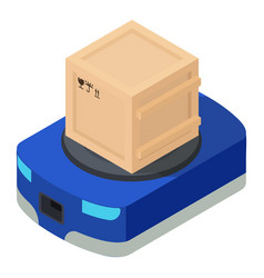 weight box icon isometric style vector image