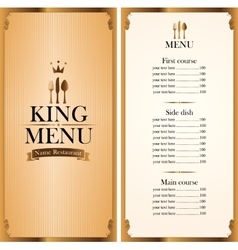 royal king menu and Price vector image vector image