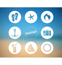 summer poster made from icons vector image vector image