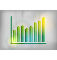 business graph grey up vector image