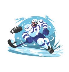 ice hockey team player vector image vector image