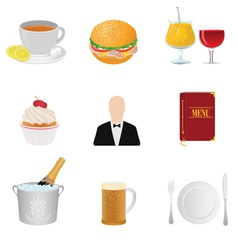 Restaurant and food vector image vector image