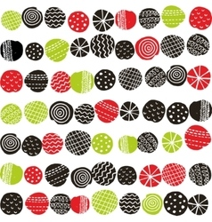Seamless pattern with abstract berries vector image vector image