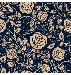 Vintage roses flowers seamless pattern vector image vector image