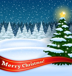 Xmas tree in the Forest vector image vector image