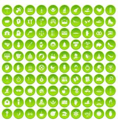 100 joy icons set green vector