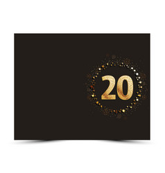 20 years anniversary card vector image