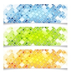 Abstract bright tech banners vector image