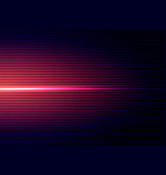 Abstract dark blue background with horizontal red vector