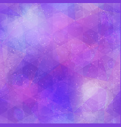 abstract purple mosaic pattern with grunge effect vector image