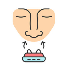 Anti snoring device color icon vector