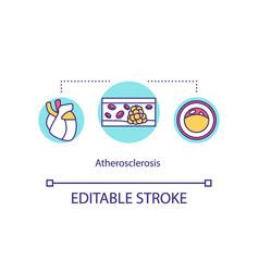 Atherosclerosis concept icon vector