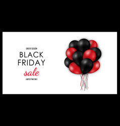 black friday sale horizontal banner shiny black vector image