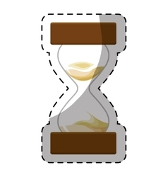 Brown stop watch and hourglass icon design vector