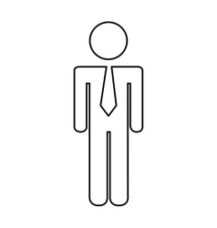 businessman avatar isolated icon design vector image