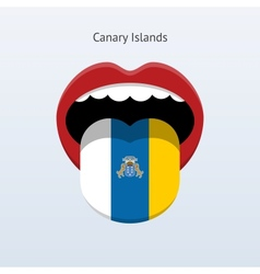 Canary Islands language Abstract human tongue vector