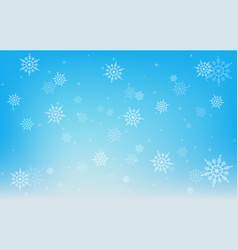 christmas winter snowflake on blue background vector image