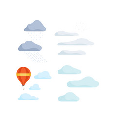 clouds and hot air balloon landscape design vector image
