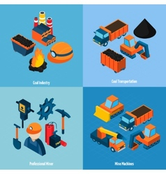 Coal Industry Isometric vector