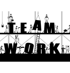 Construction Teamwork Poster vector image