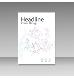 Cover brochure template with connect molecule vector