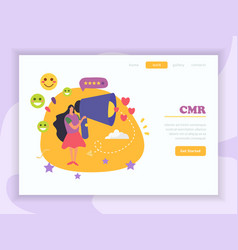 crm website landing page vector image