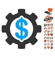 development cost icon with lovely bonus vector image